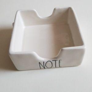 "Brand new Rae Dunn  ""NOTE"" holder tray"